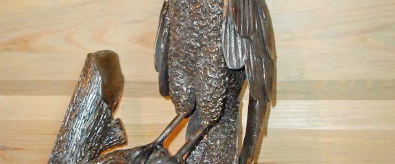 Kalviška skulptūra – pelėda